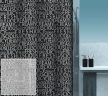 CREAMY Black Zuhanyfüggöny 180x200 cm