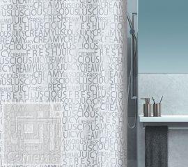CREAMY Silver Zuhanyfüggöny 180x200 cm