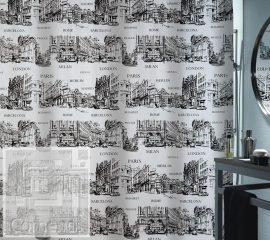 PLACES Zuhanyfüggöny 180x200 cm