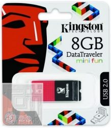 Kingston 8GB USB 2.0 Data Traveler Mini Fun G 2 Pendrive