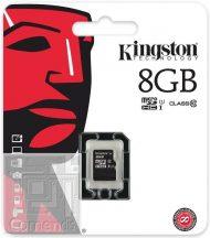 Kingston 8GB MicroSDHC Class 10 memória kártya