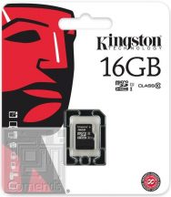 Kingston 16GB MicroSDHC Class 10 memória kártya