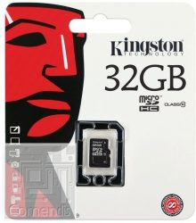 Kingston 32GB MicroSDHC Class 10 memória kártya