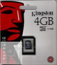 Kingston 4GB MicroSDHC Class 4 memória kártya