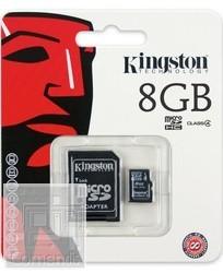 Kingston 8GB MicroSDHC Class 4 memória kártya adapterrel