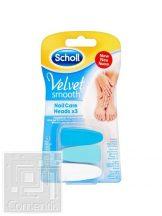 Scholl Velvet Smooth™ Elektromos Körömápoló Pótfejek (3 db)