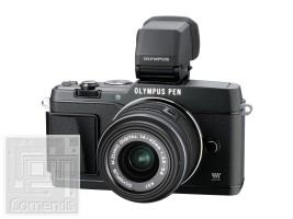 Olympus E-P5 fekete váz + EZ-M1442 II R fekete Kit + VF-4 elektronikus kereső  -  töltő+akku