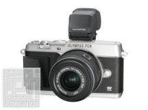 Olympus E-P5 ezüst váz + EZ-M1442 II R fekete kit  -  töltő+akku