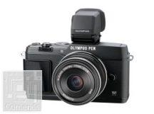 Olympus E-P5 fekete váz + EW-M1718 fekete Kit + VF-4 elektronikus kereső - töltő+akku