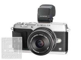 Olympus E-P5 ezüst váz + EW-M1718 fekete Kit + VF-4 elektronikus kereső - töltő+akku