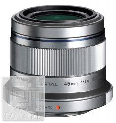 Olympus ET-M4518 ezüst M.ZUIKO DIGITAL 45mm 1:1.8 (90mm) objektív
