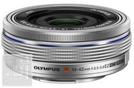 Olympus M.ZUIKO DIGITAL 14-42mm 1:3.5-5.6 EZ (elektronikus zoom), pancake / EZ-M1442EZ ezüst